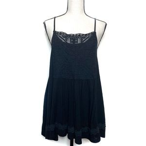 maurices black embroidered tank Large